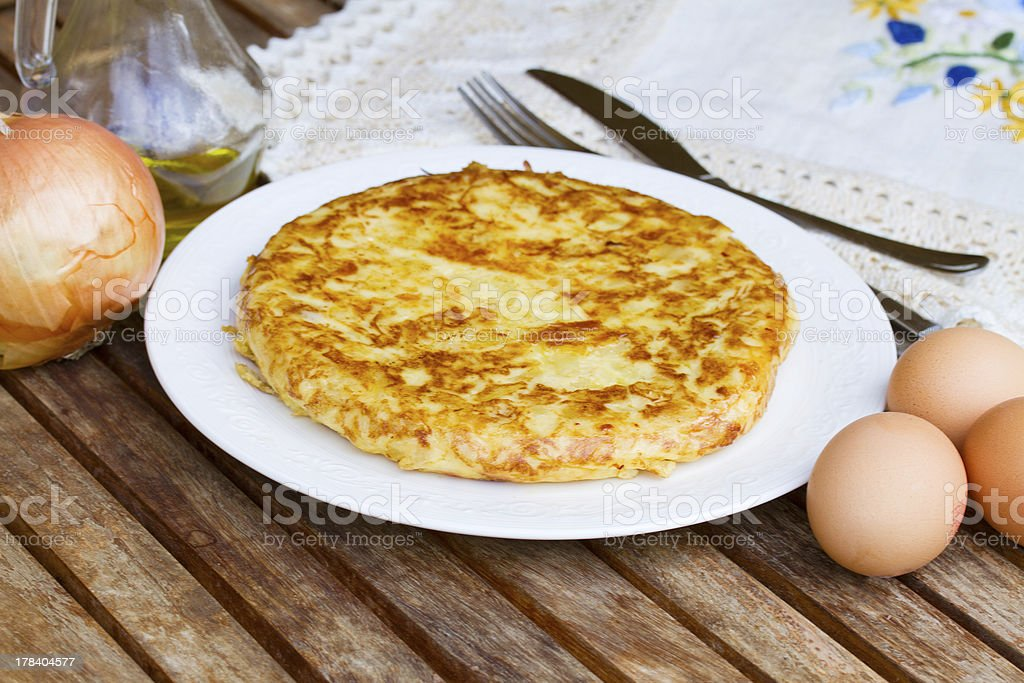 served tortilla  - spanish omelette royalty-free stock photo