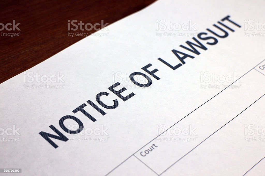 Served with a Lawsuit stock photo