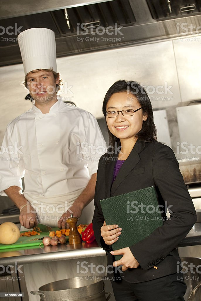 Server and Chef royalty-free stock photo