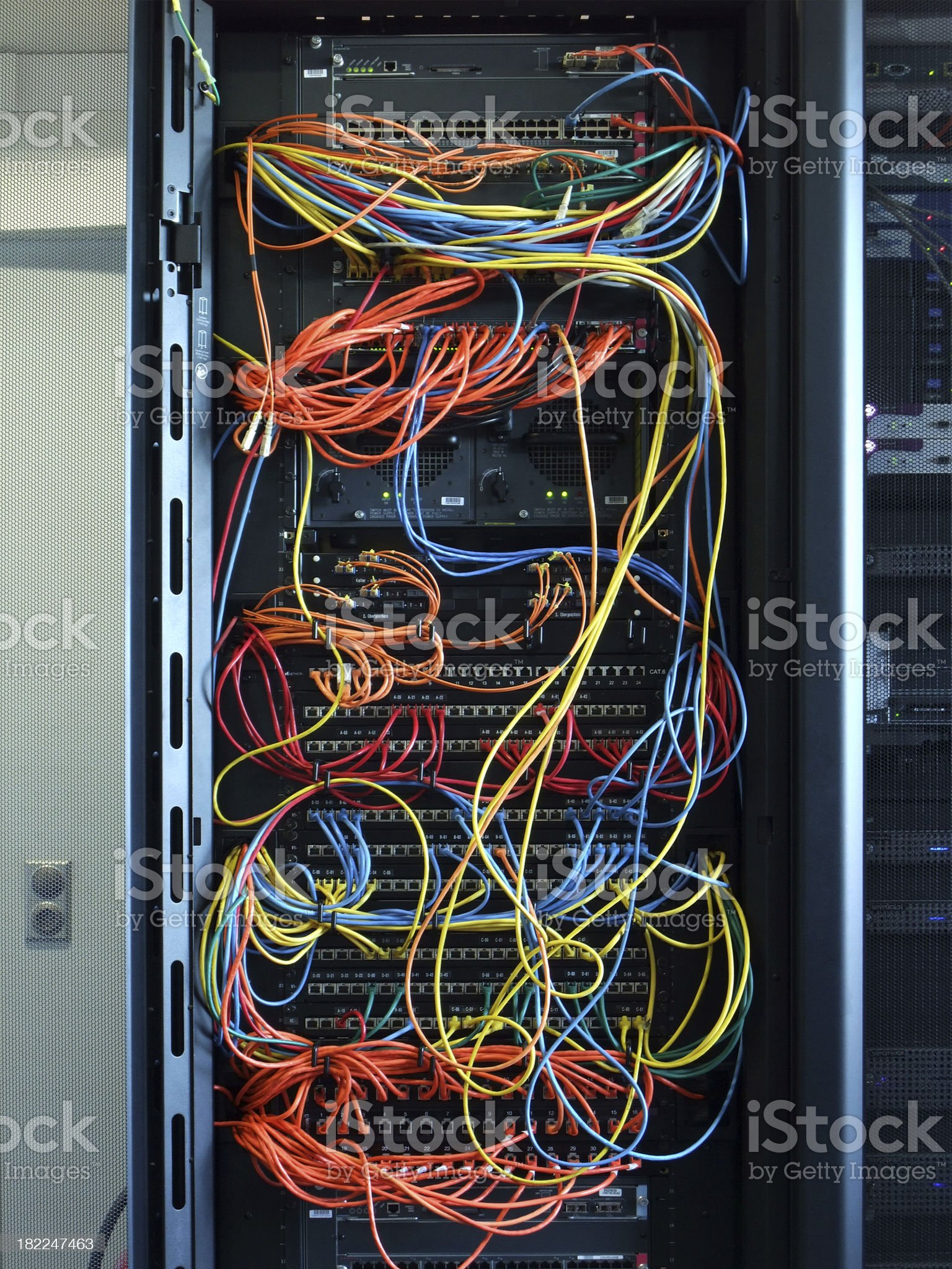 server cable jam royalty-free stock photo