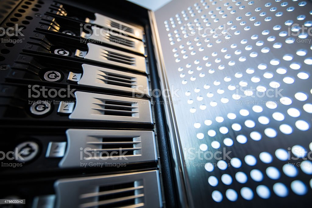 NAS server drives small business storage stock photo