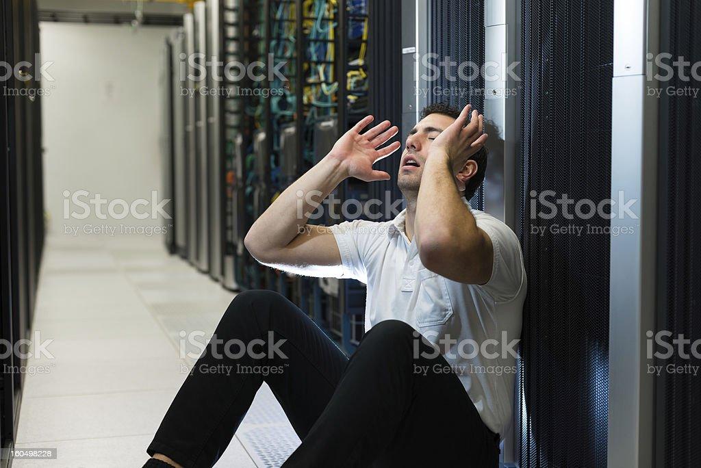 Server failure stock photo