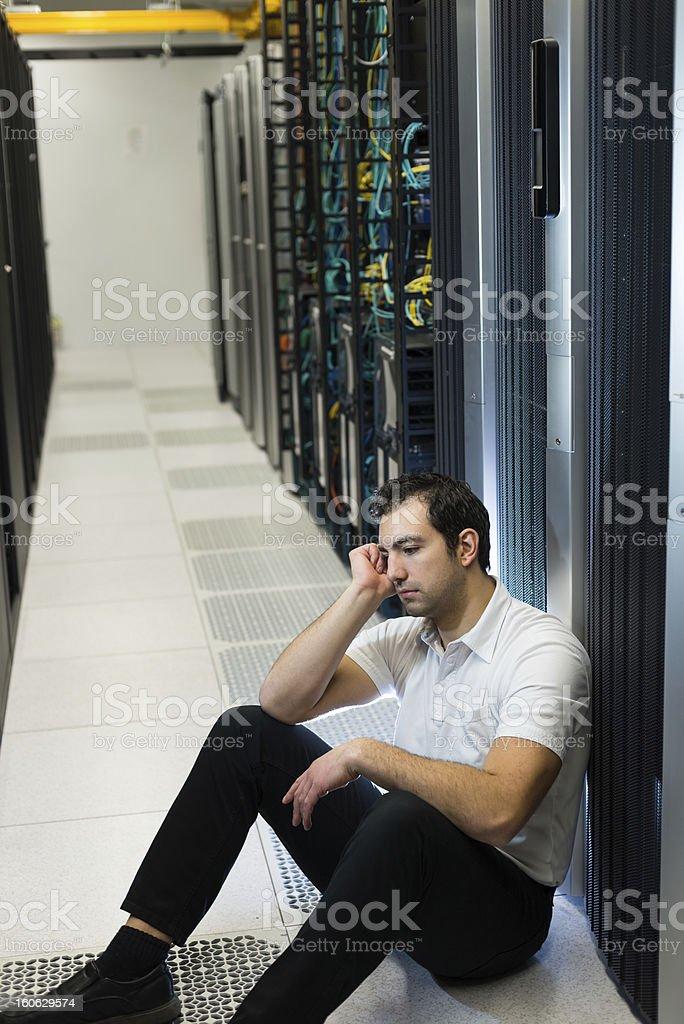 Server failure royalty-free stock photo