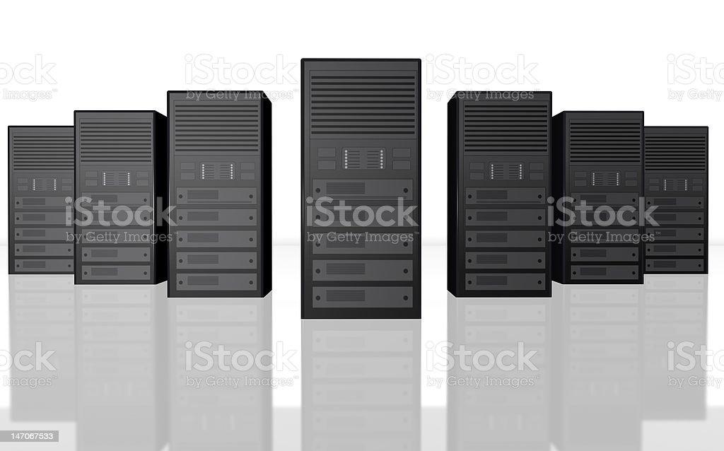3D server farm computer illustration stock photo
