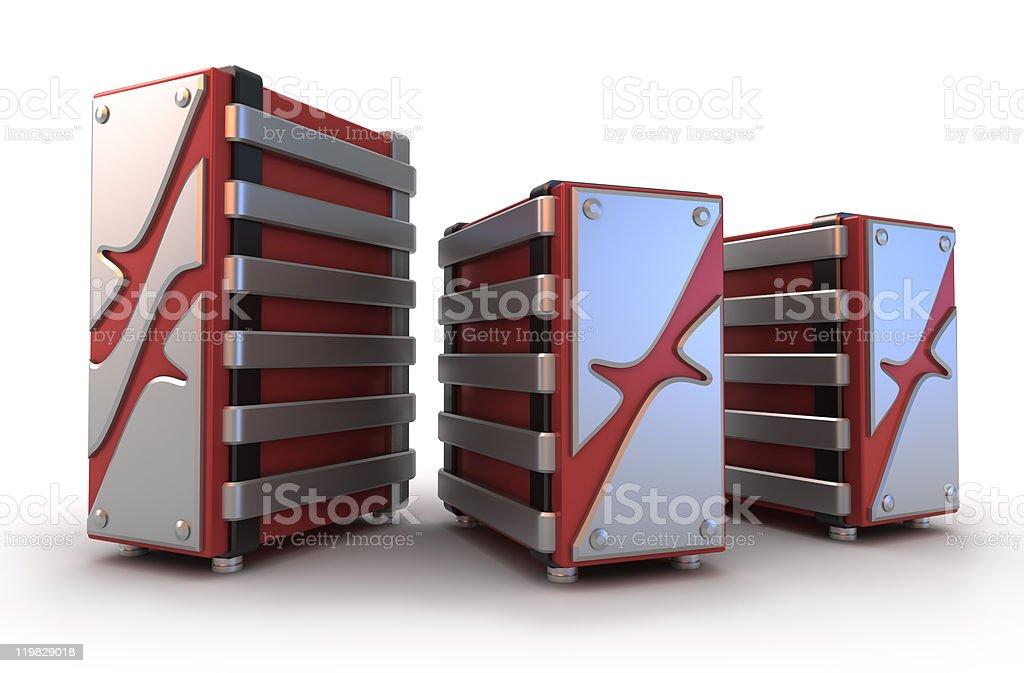 Server farm on white stock photo