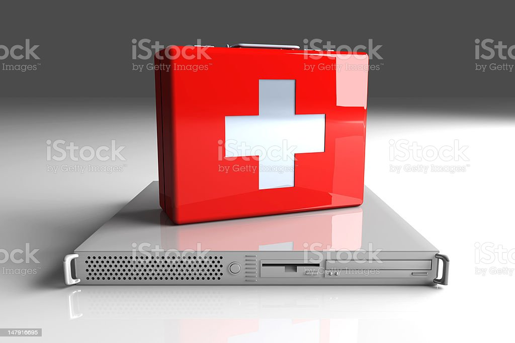 Server first aid stock photo