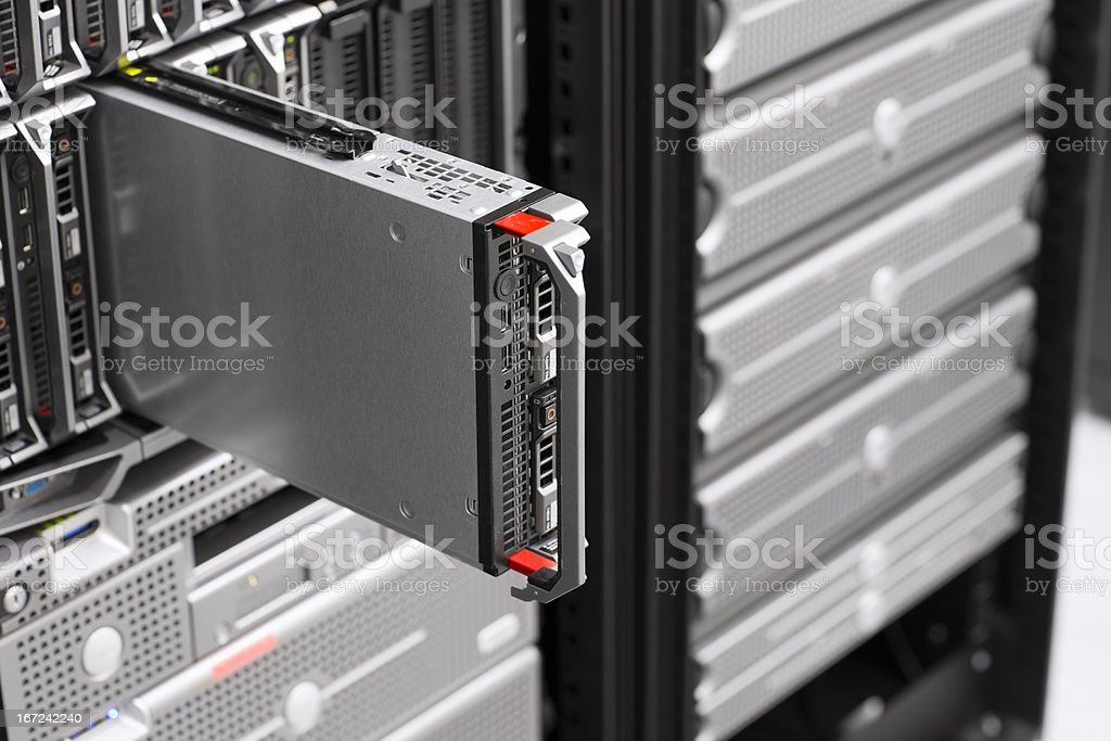 Server in Blade Chassis stock photo
