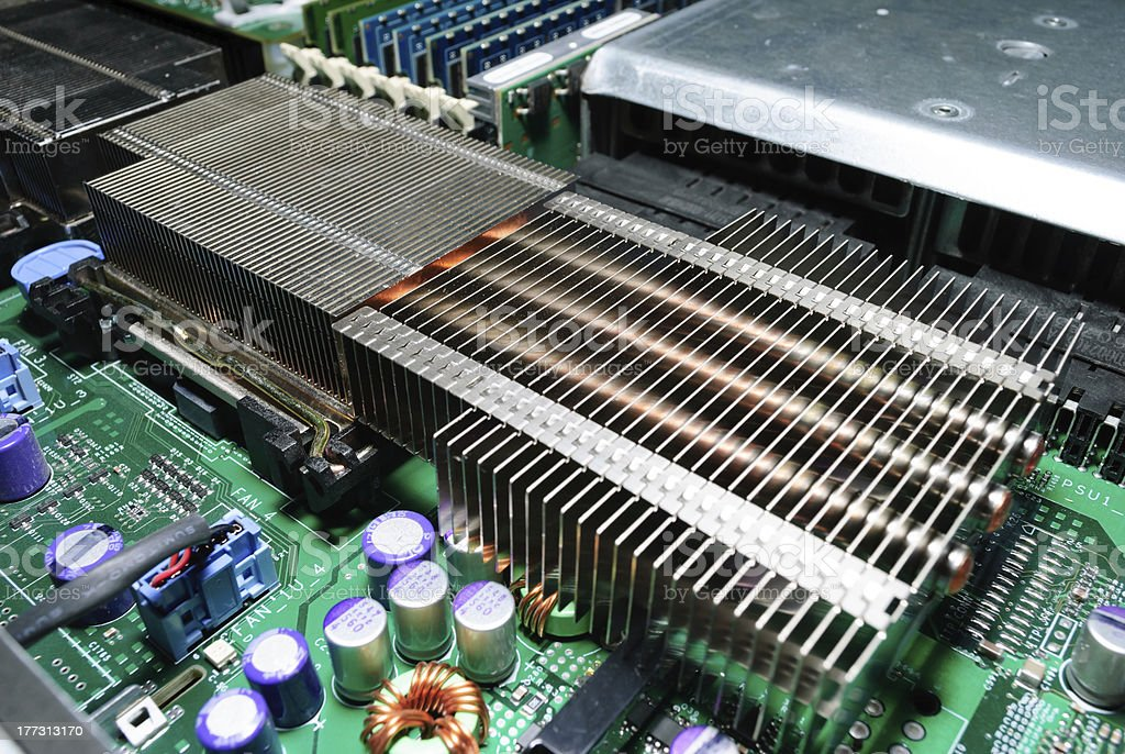 Server motherboard. royalty-free stock photo