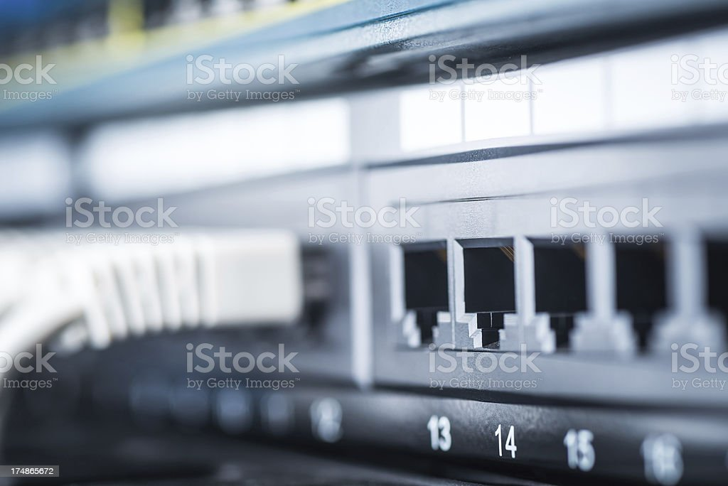 Server network panel stock photo