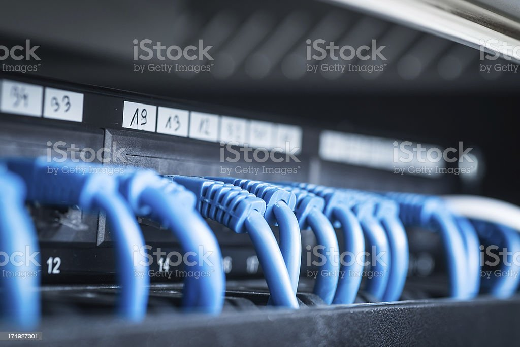 Server network panel royalty-free stock photo