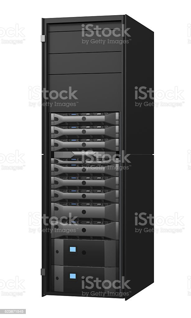 Server rack stock photo
