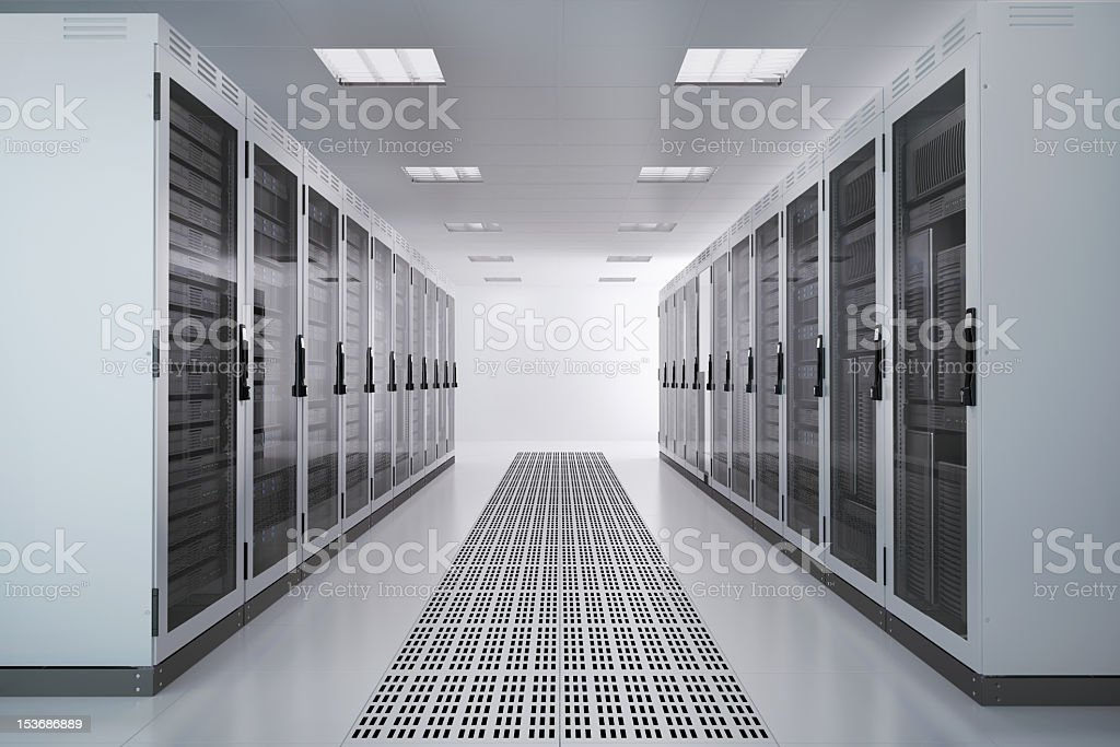 Server Racks, Airconditioned Room royalty-free stock photo