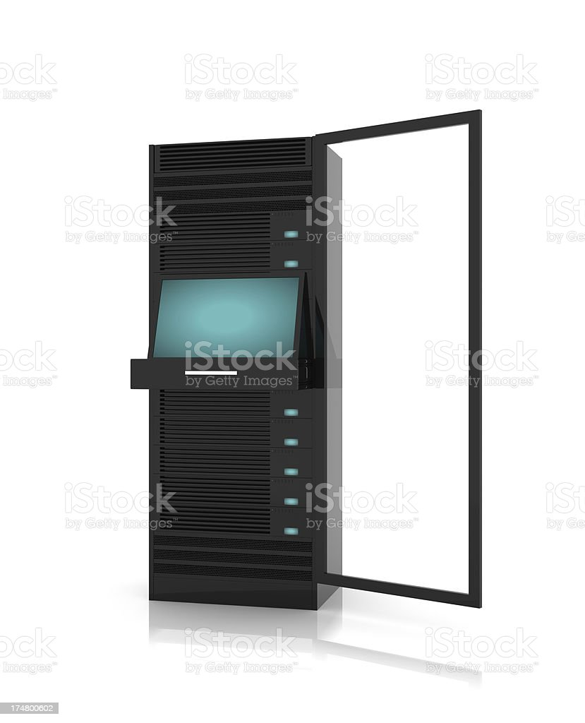 Server racks digital concept stock photo