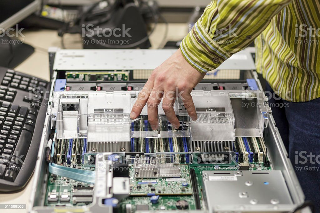 Server Ram Instalation by Real Technical Expert stock photo