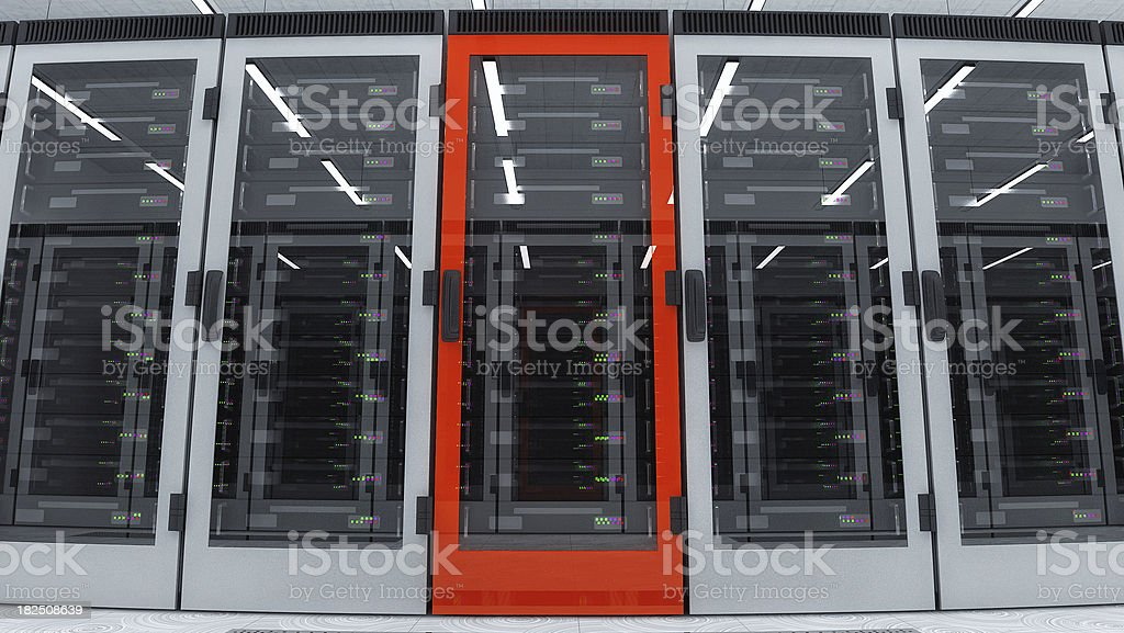 Server Red royalty-free stock photo
