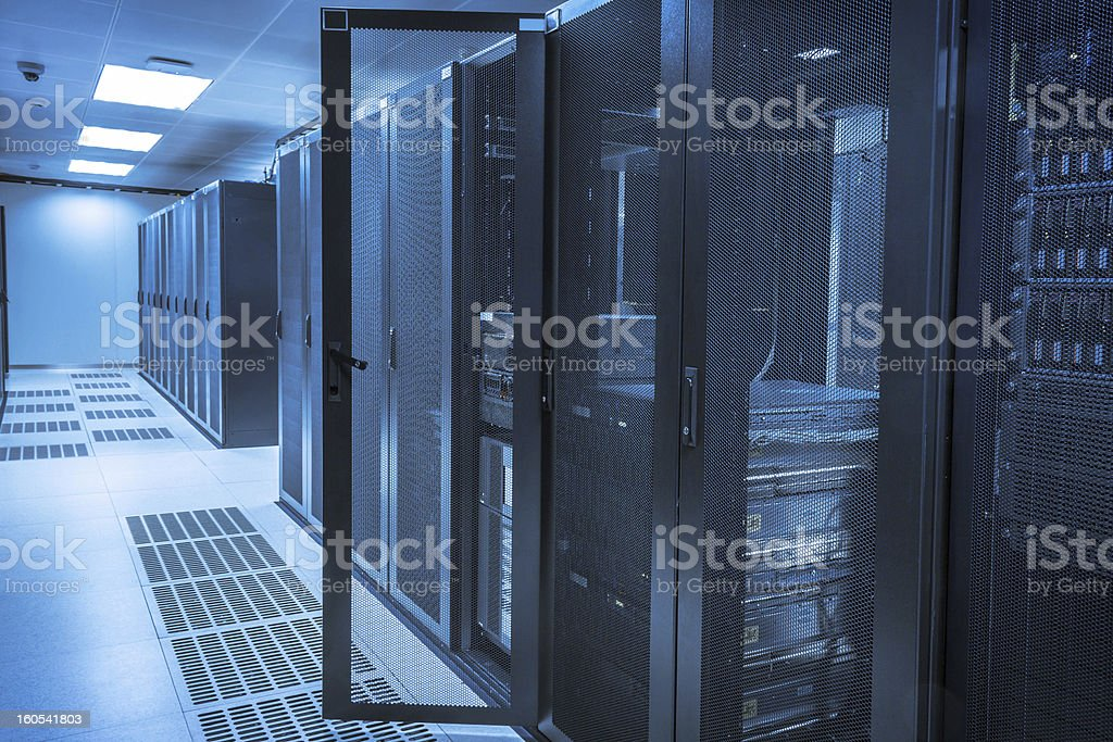 Server Room at Data Center royalty-free stock photo