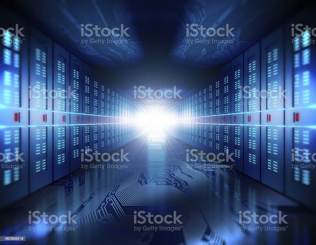 Server room concept stock photo
