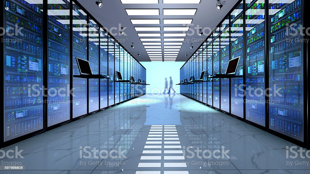Server room, datacenter. stock photo