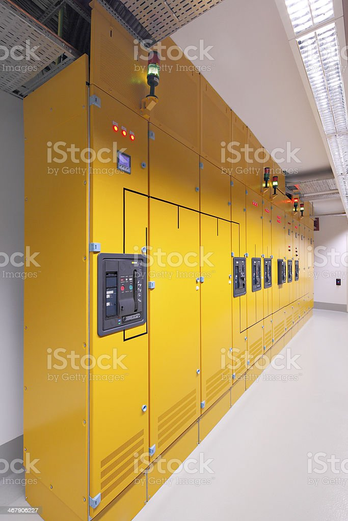 Server room in datacenter royalty-free stock photo