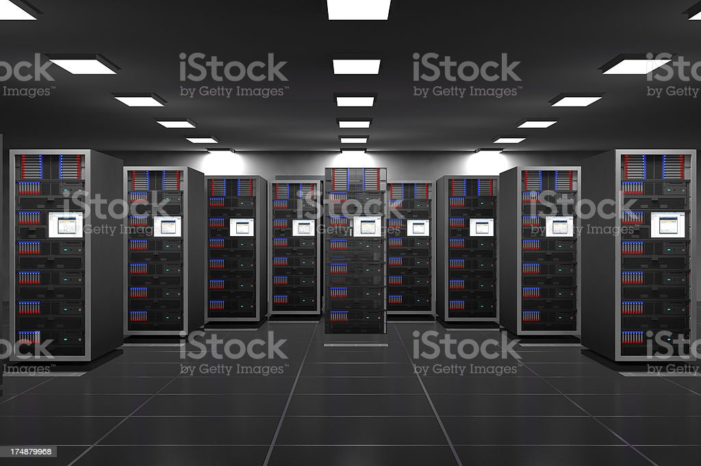 Server room interior royalty-free stock photo