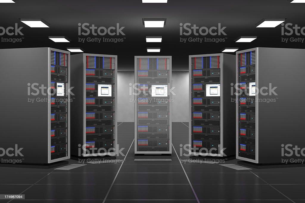 Server room interior stock photo