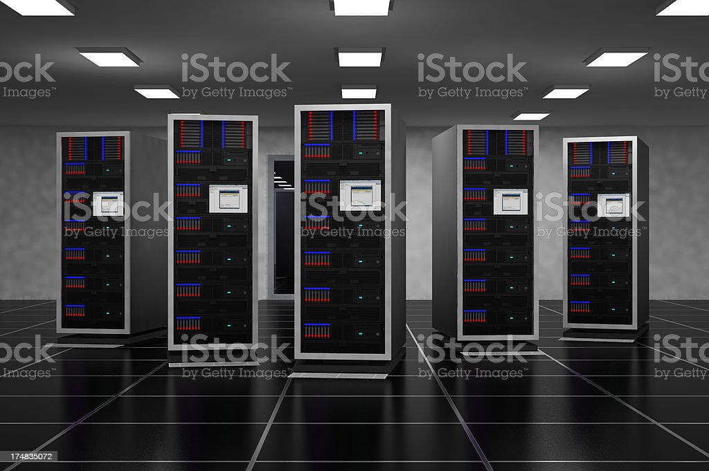 Server room royalty-free stock photo