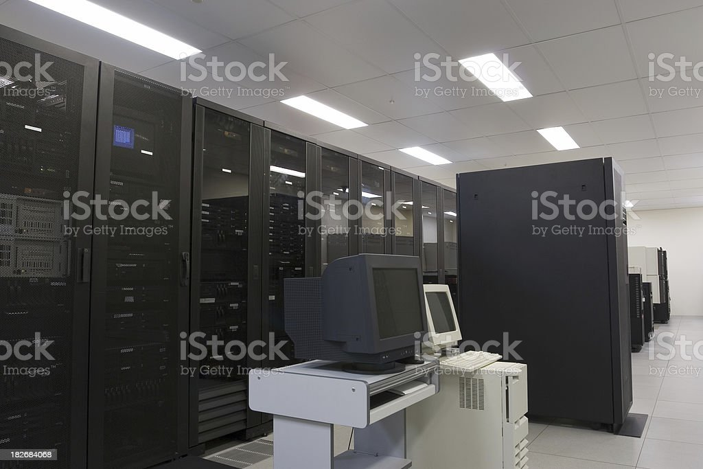 IBM Server Room royalty-free stock photo