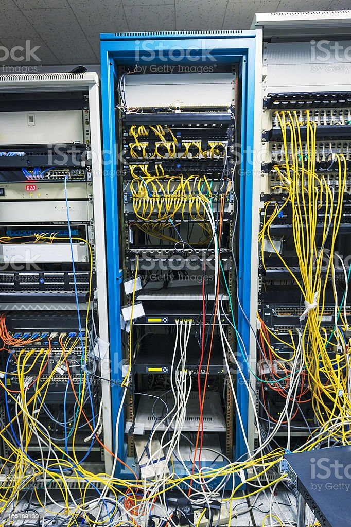 Server Room Under Construction royalty-free stock photo