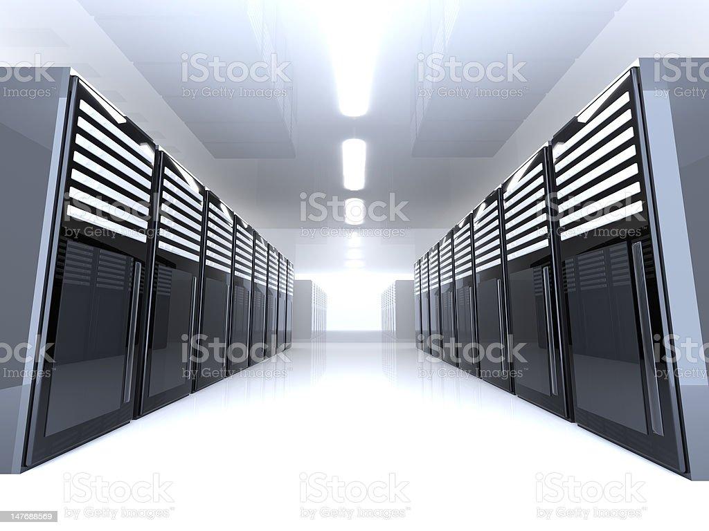 Server Room - Wide angle stock photo