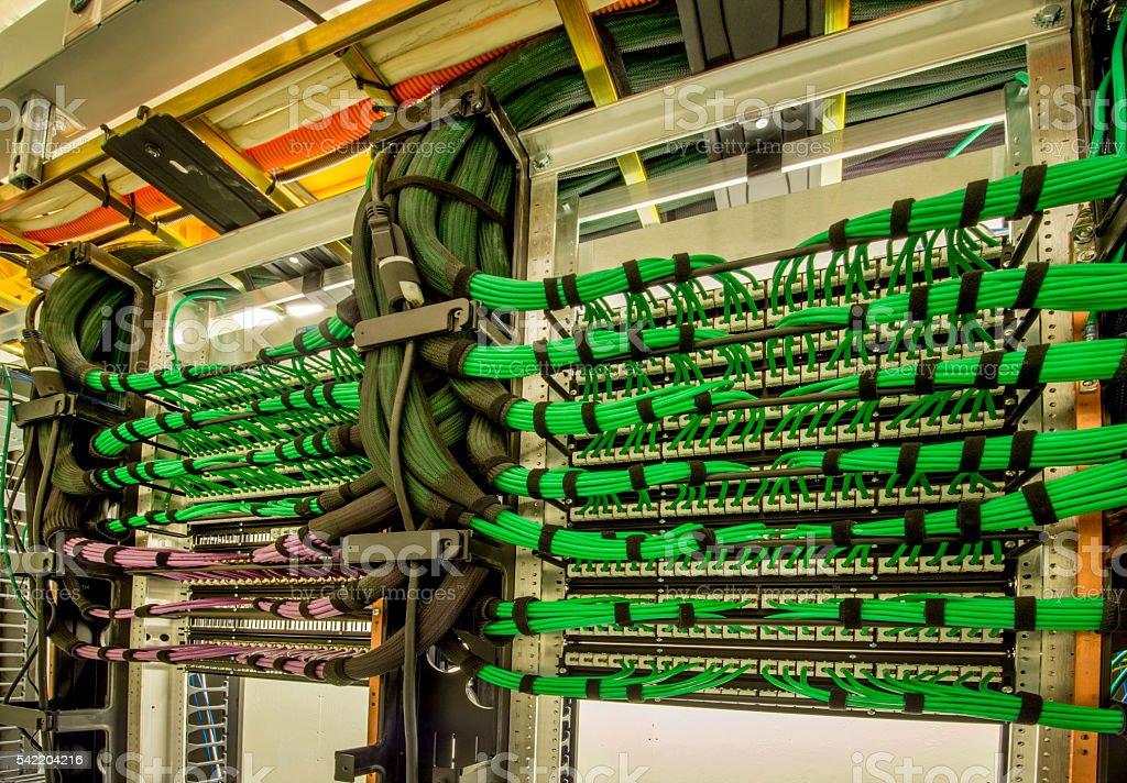 Server Room Wiring : Server room wiring stock photo istock