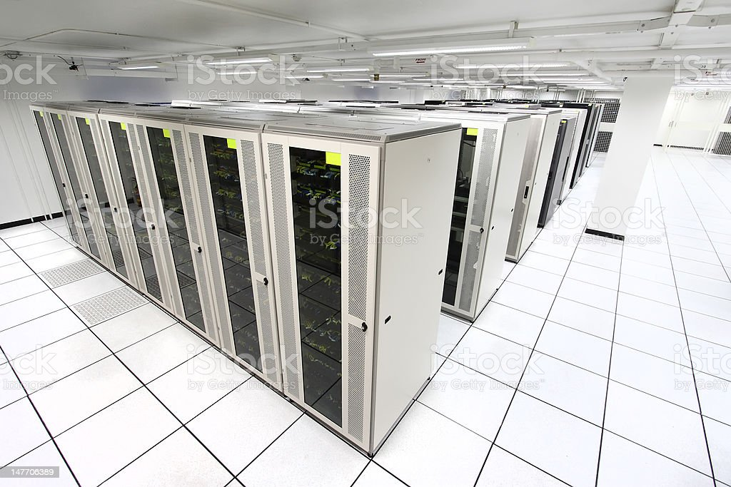 server room with white servers royalty-free stock photo