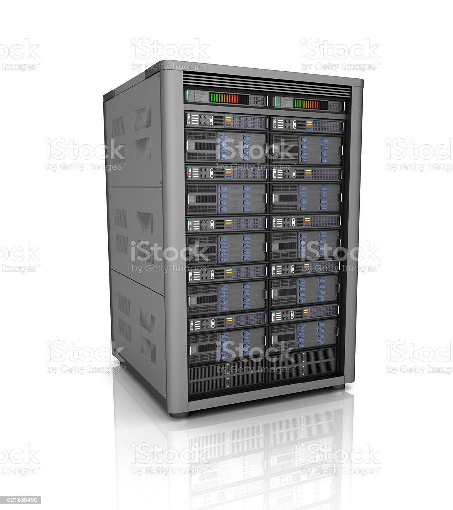 Server storage database icon over white. 3D illustration stock photo