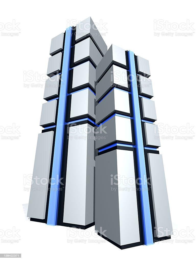 server towers royalty-free stock photo