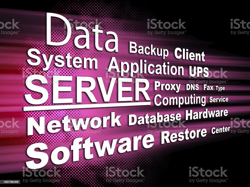 Server - Word cloud royalty-free stock photo