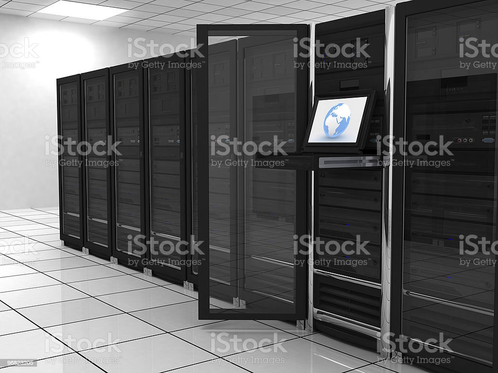 server-room royalty-free stock photo