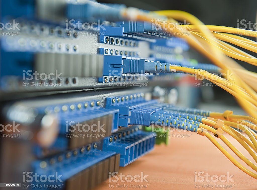 servers and hardwares in an internet data center stock photo
