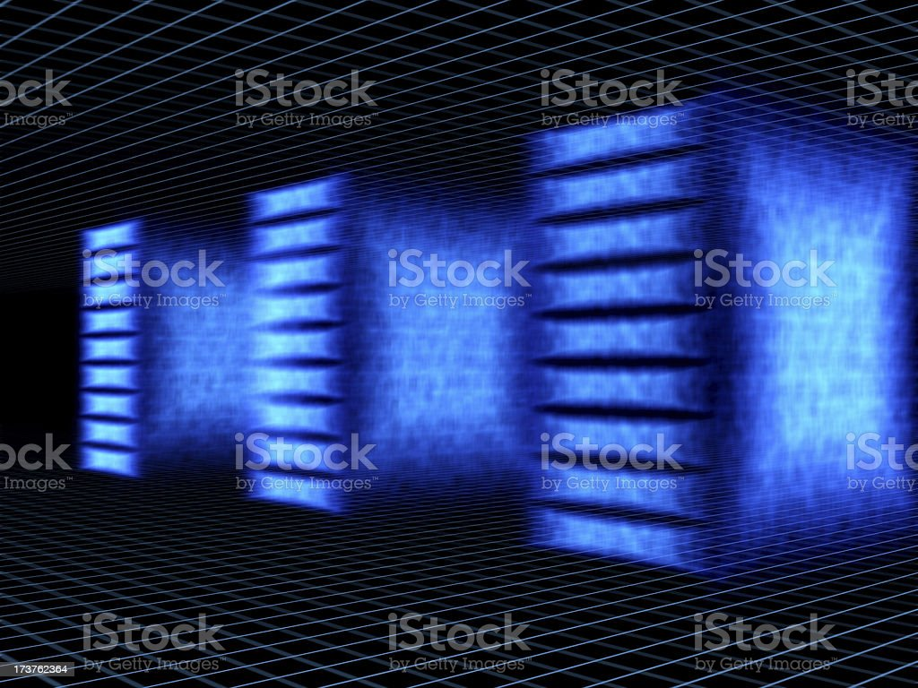 servers from fire royalty-free stock photo