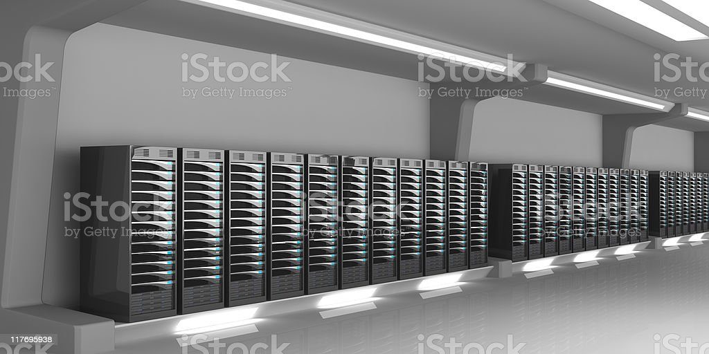 Servers in a Data Center royalty-free stock photo