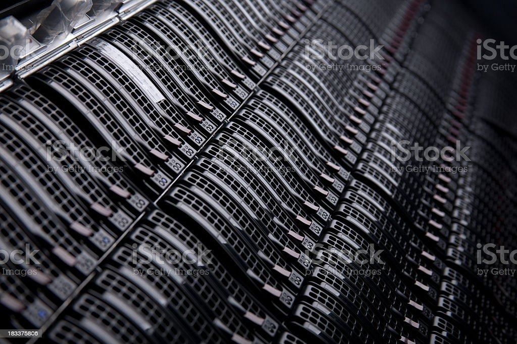 Servers in a Datacenter stock photo