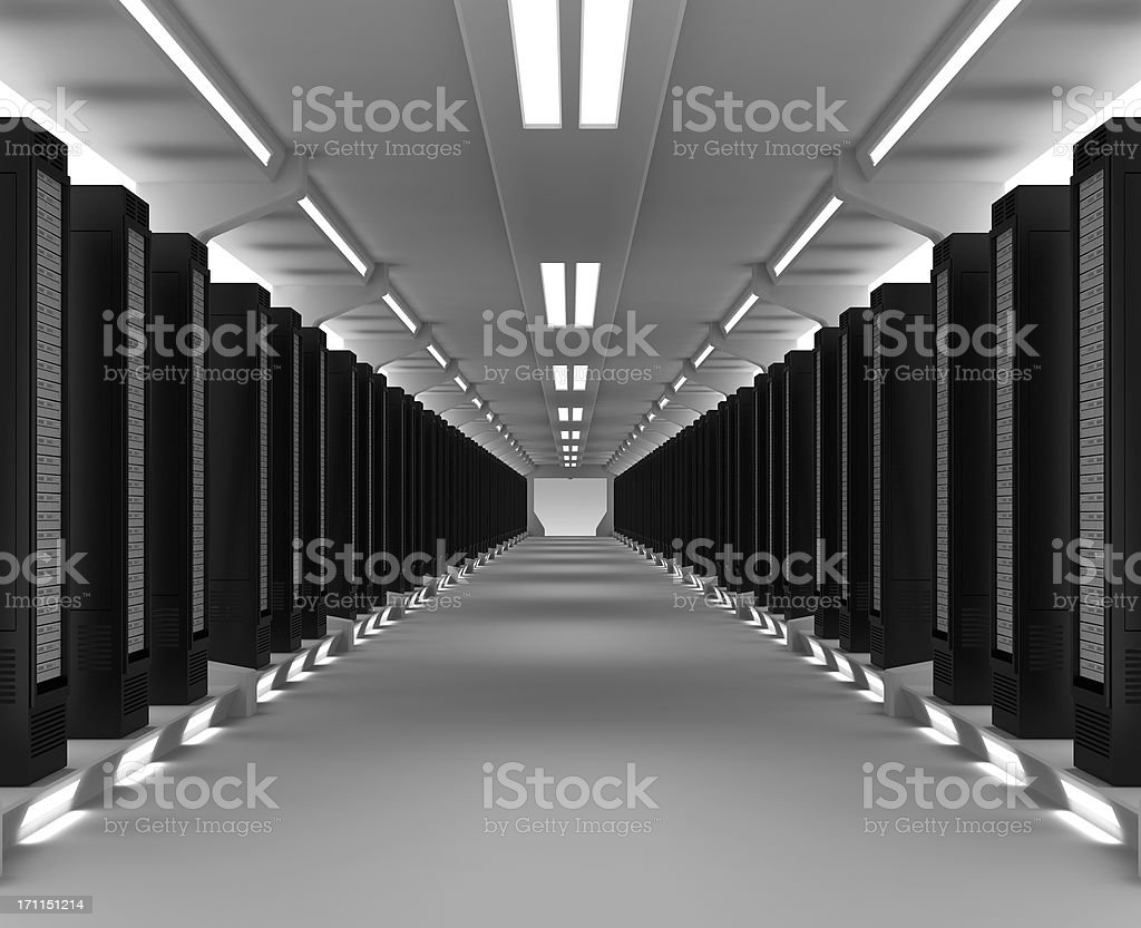 Servers in Data Center royalty-free stock photo