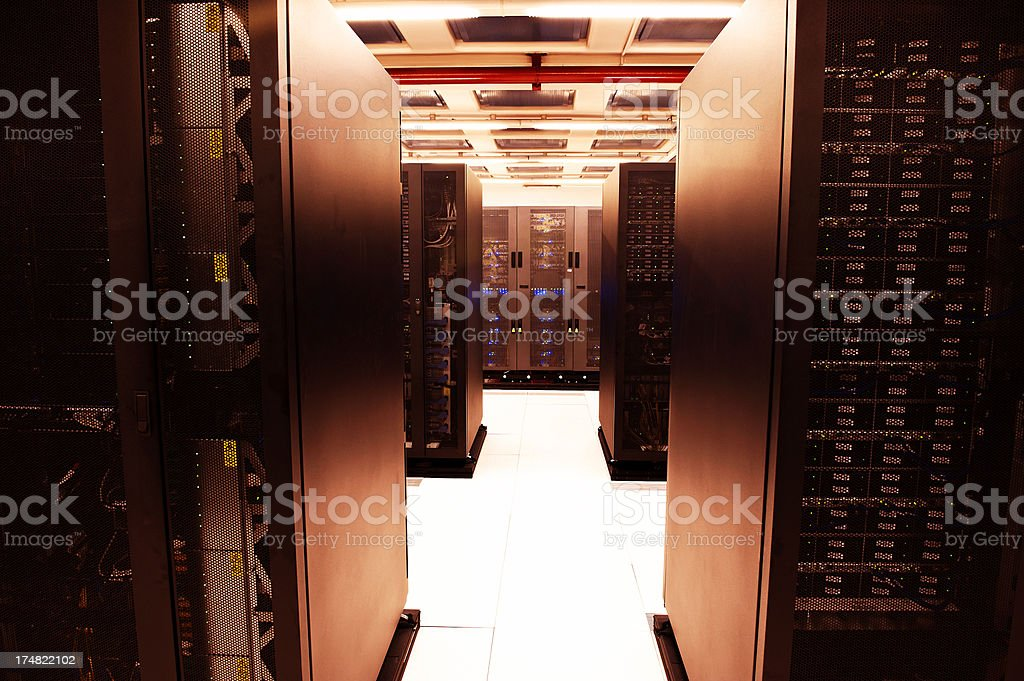 Servers in the data center stock photo