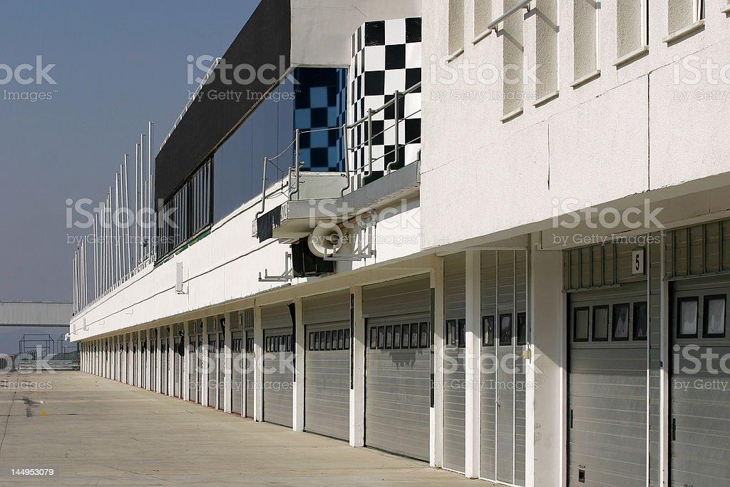 Service area a race track - pitstop stock photo