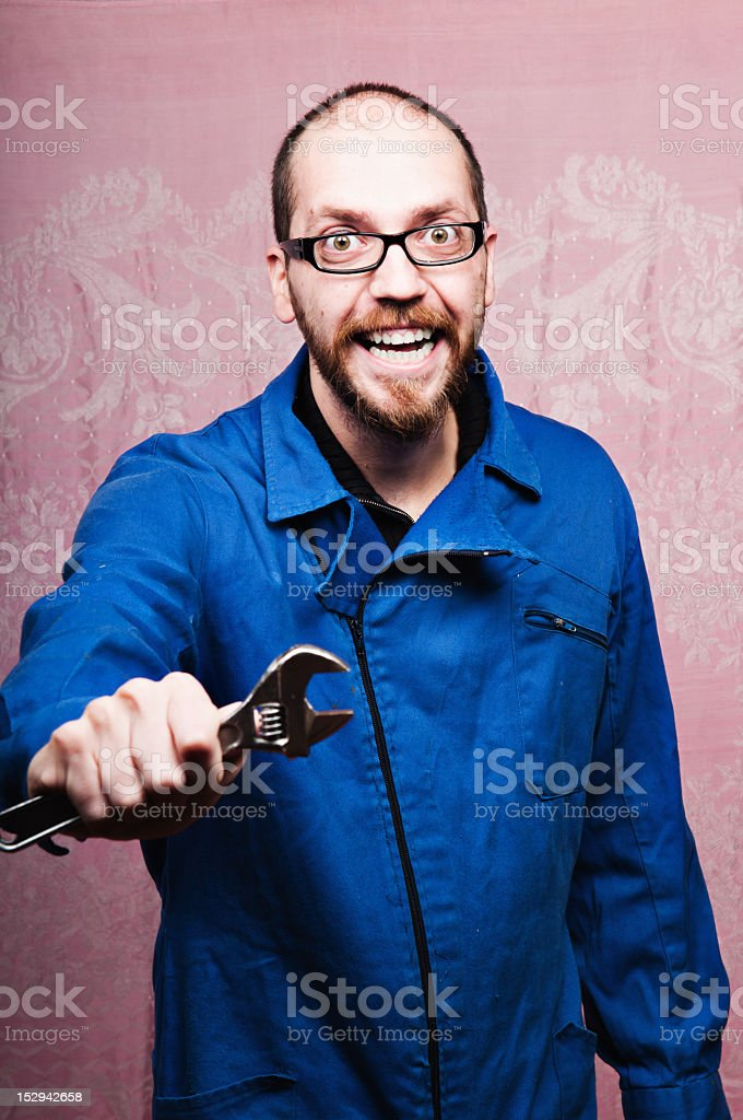 Service assistance repairman royalty-free stock photo