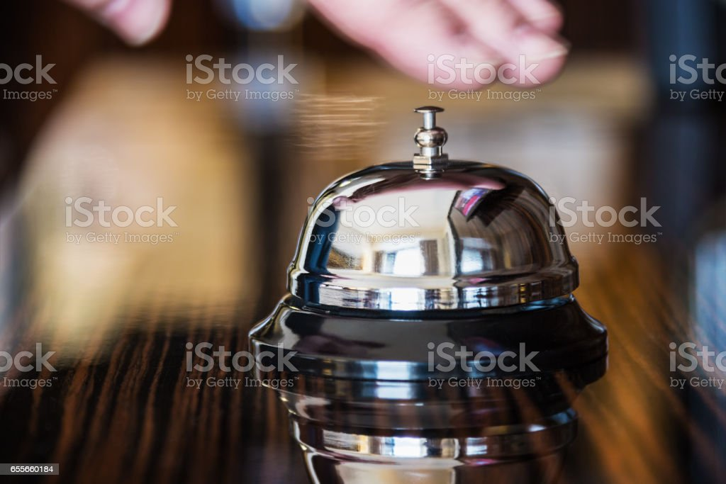 service bell in a hotel or other premises stock photo
