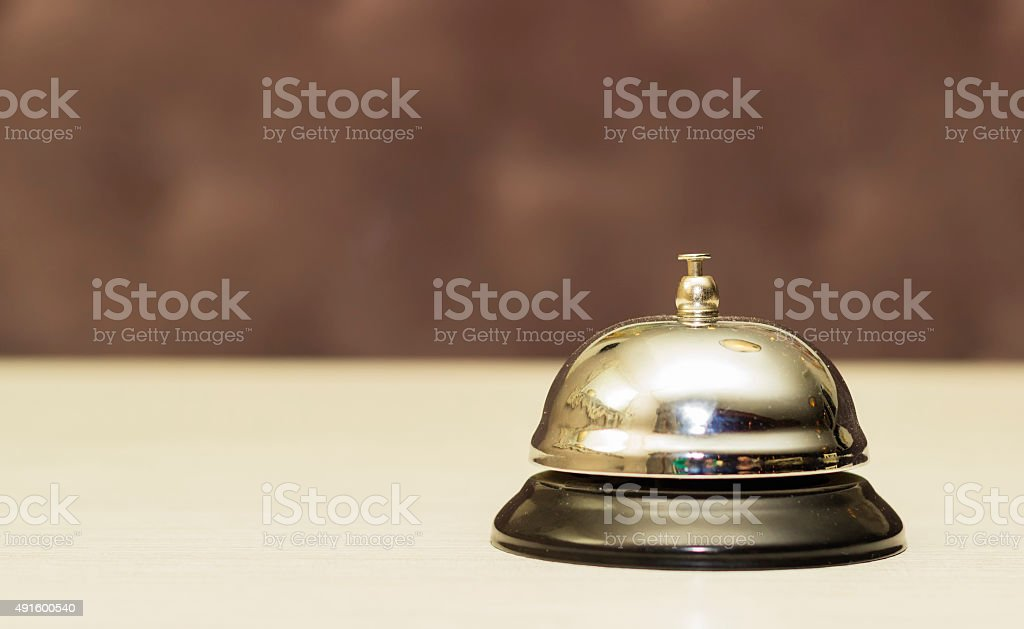 Service bell on reception 2 stock photo