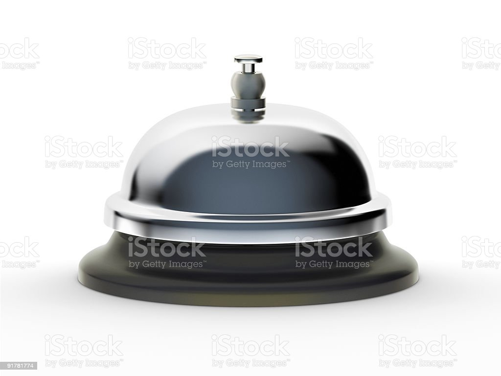 Service Bell on White Background stock photo