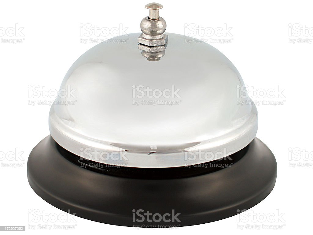Service Bell (with clipping path) royalty-free stock photo