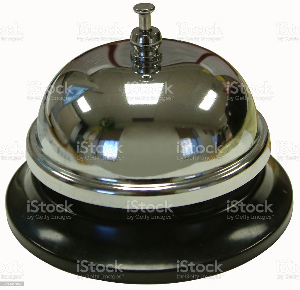 Service Bell with Path royalty-free stock photo