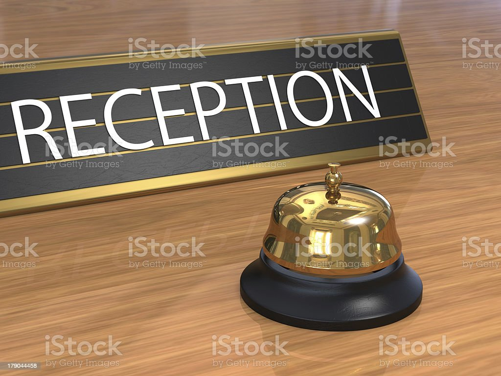 Service bell with reception plate royalty-free stock photo