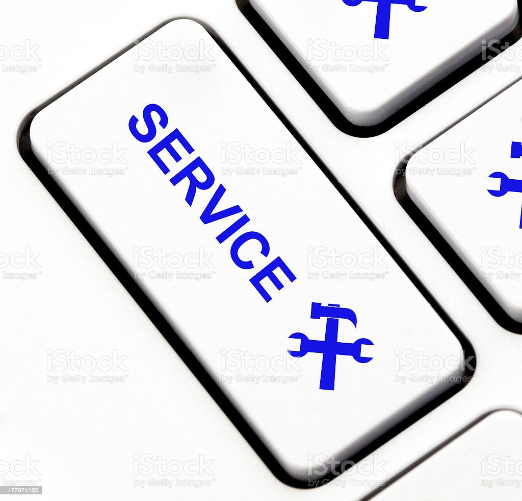 Service button on keyboard royalty-free stock photo